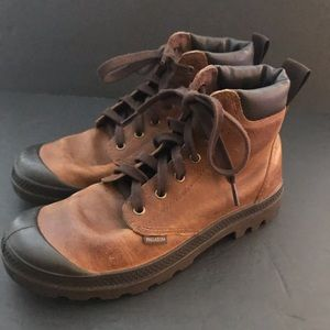 Men's Palladium ankle boots 8 Sunrise Cafe pampa